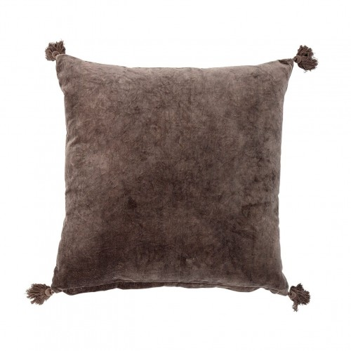 Coussin velours brun Bloomingville