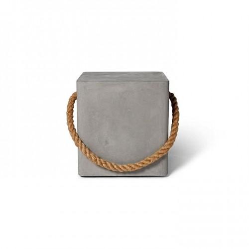 Cube/Tabouret en beton à roulettes Edge - Lyon Béton