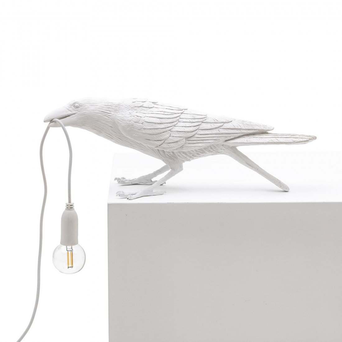 Lampe à poser Bird Playing blanche Seletti