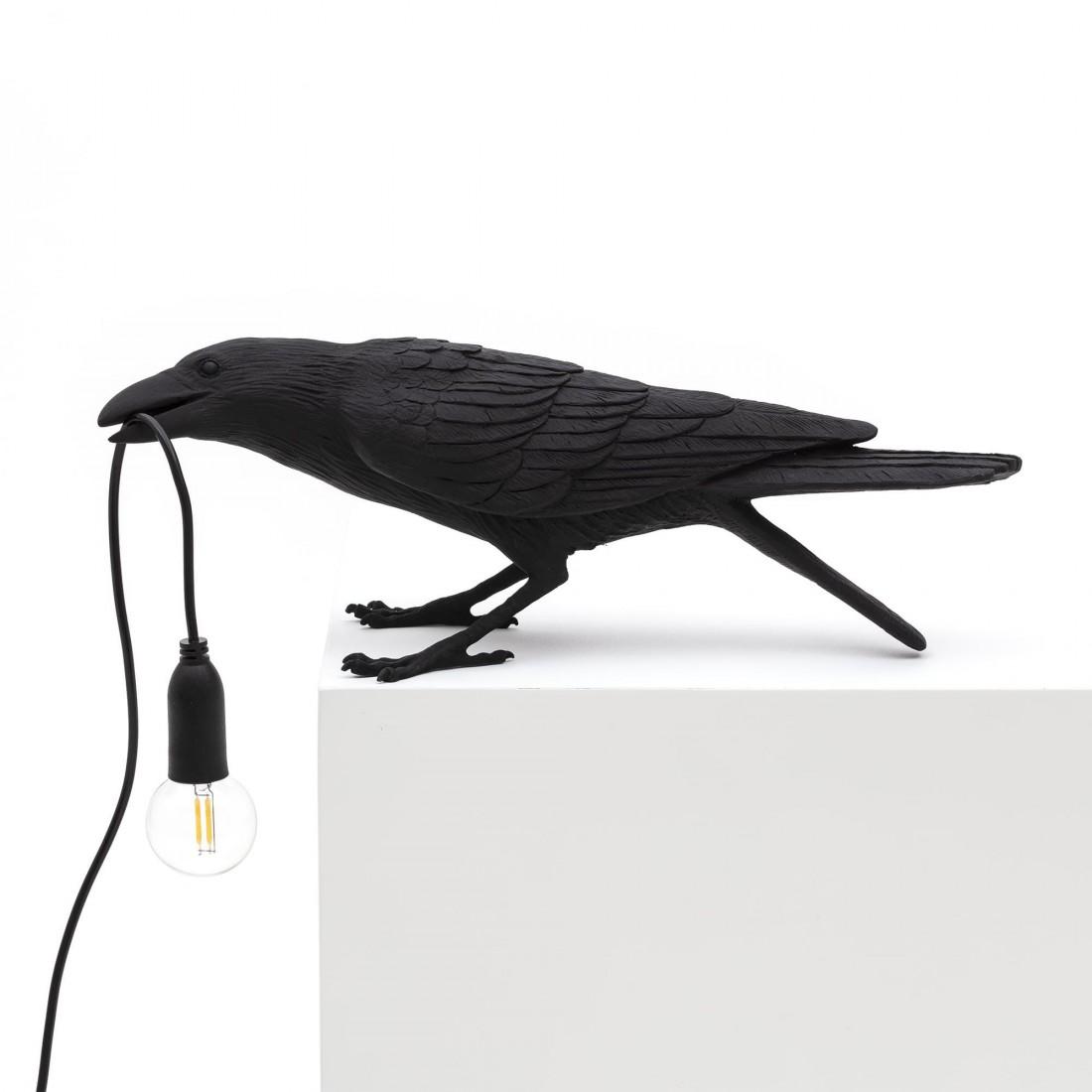 Lampe à poser Bird Playing noire Seletti