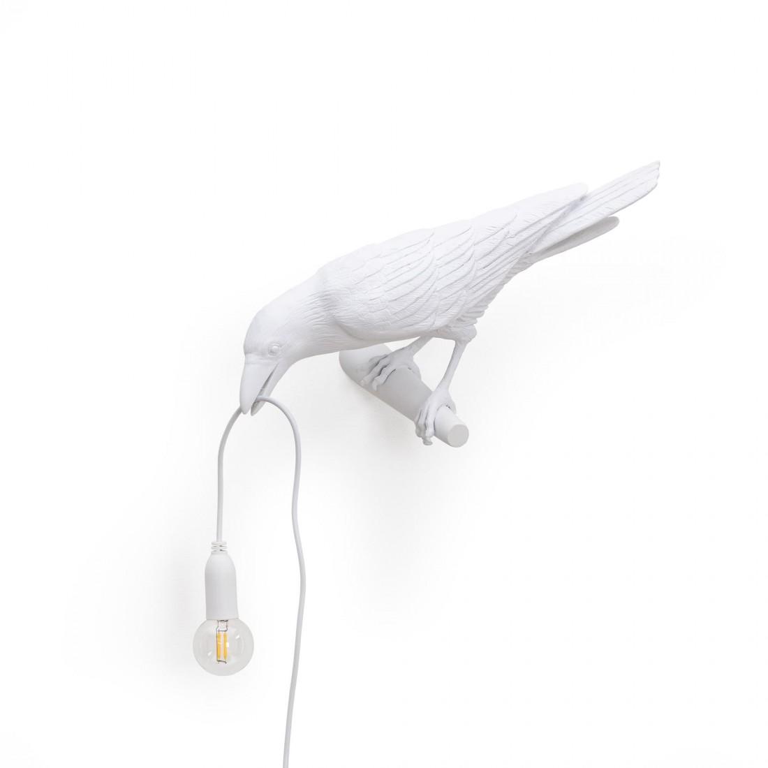 Applique Bird Looking blanche Seletti
