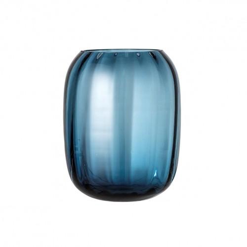 Vase en verre bleu Bloomingville