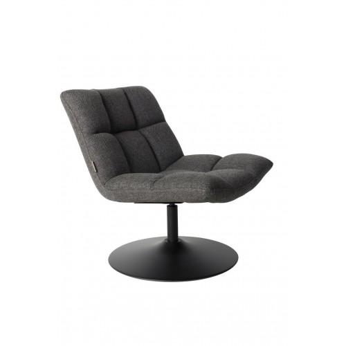 Fauteuil Lounge Chair Bar Gris Foncé - Dutchbone