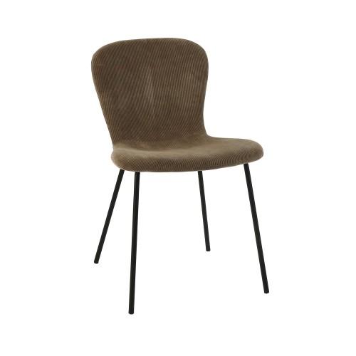 Chaise en velours Daia Pomax