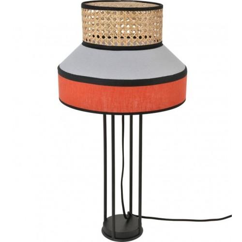 Lampe à poser SINGAPOUR gris et tomette H59 x Ø30 cm - MARKET SET