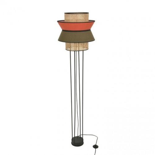 Lampadaire SINGAPOUR métal kaki et tomette 158 x Ø40 cm - MARKET SET