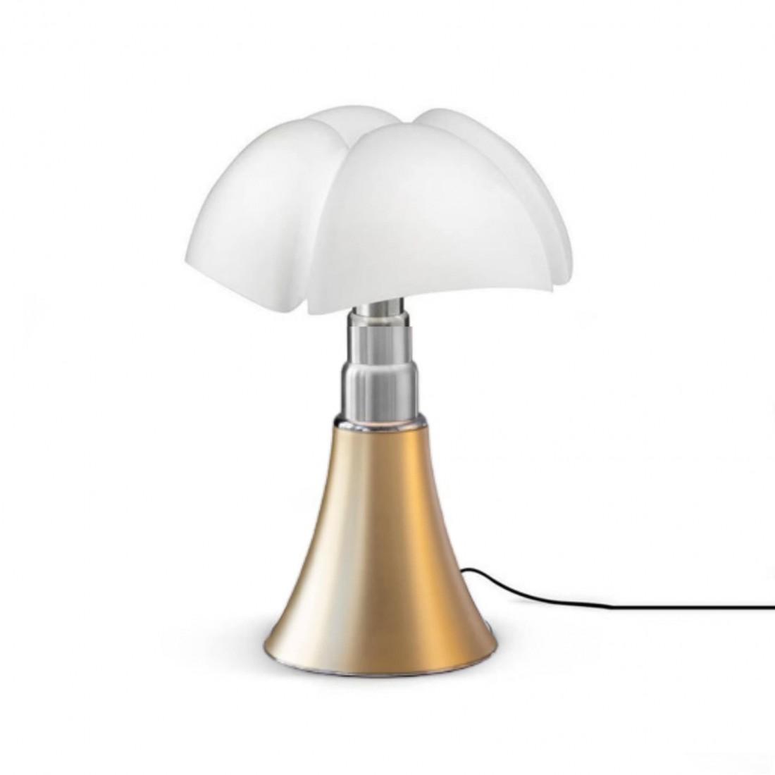 Grande Lampe Pipistrello Laiton Satiné H66-86cm