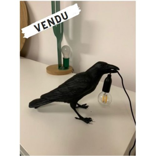 Lampe à poser Bird Waiting noire Seletti - 2nde Main