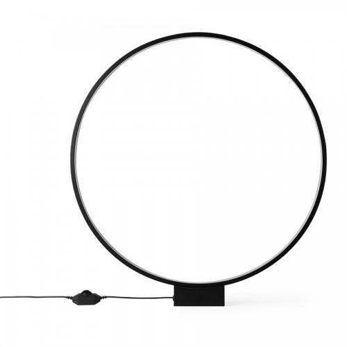 Lampe de table cercle lumineuse noir - HK Living