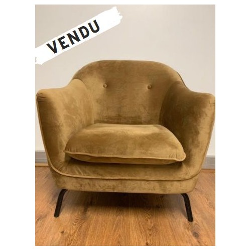 Fauteuil Velours Lusso Pomax - 2nde Main