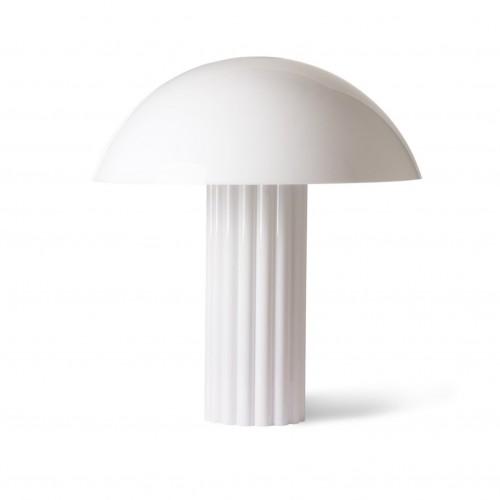 Lampe de table Blanche Colonne - HK Living