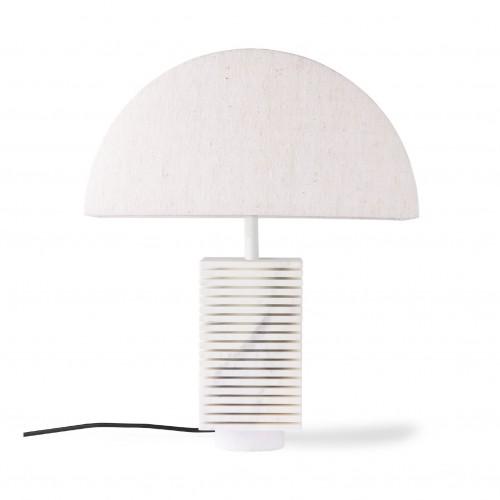 Lampe à poser blanche en marbre - HK Living
