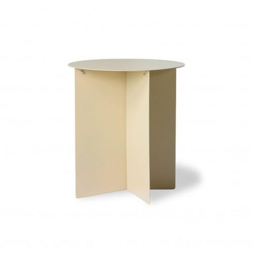 Table d'Appoint Crème en Métal - HK Living