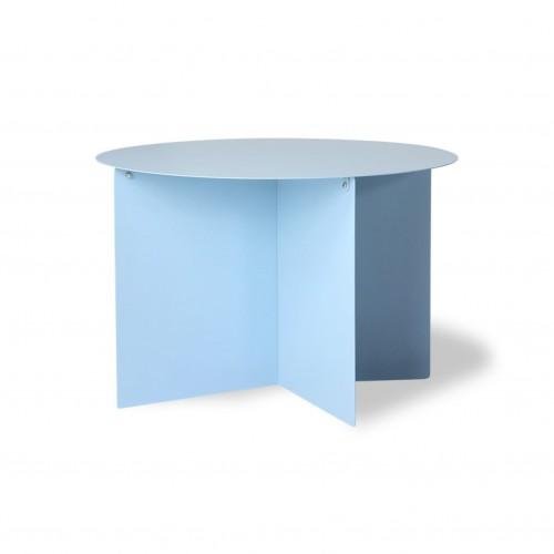 Table Basse Ronde en Métal Bleu Ciel - HK Living