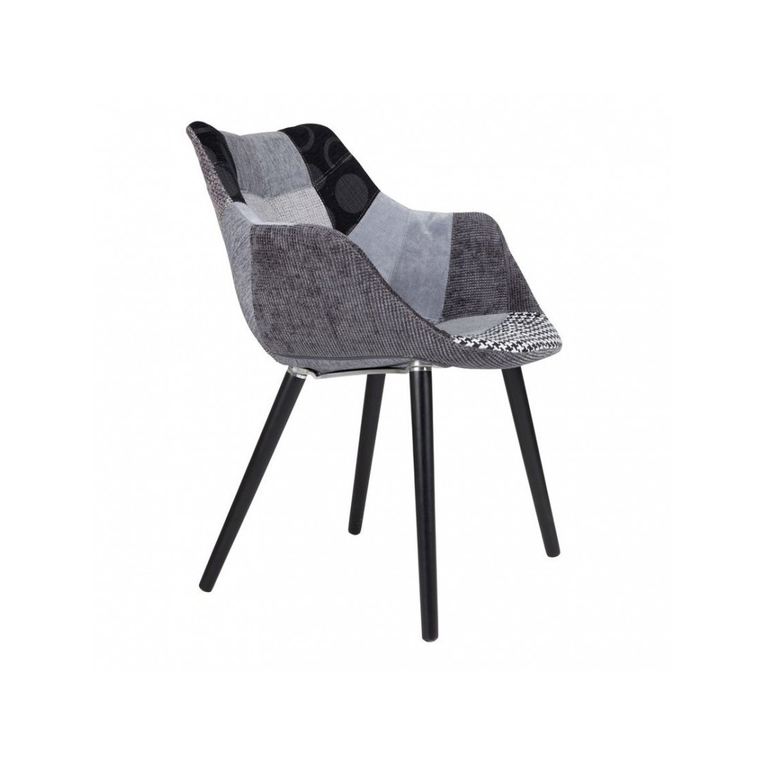 Chaise Twelve Patchwork Zuiver Grise